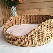 Зоотовары handmade. Livemaster - original item Couches: Wicker cot for a cat. For the dog.. Handmade.