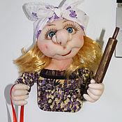 Сувениры и подарки handmade. Livemaster - original item Doll magnet Anfisa or brownie carrot-top. Handmade.