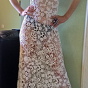 Одежда ручной работы. Ярмарка Мастеров - ручная работа Платье,вязаное крючком . Ирландское кружево .. Handmade.