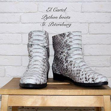 Обувь ручной работы. Ярмарка Мастеров - ручная работа Полусапожки из питона. Handmade.