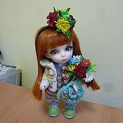 Куклы и игрушки ручной работы. Ярмарка Мастеров - ручная работа Цветы для игрушек из фома.. Handmade.
