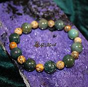 Украшения handmade. Livemaster - original item The infinity bracelet and ocean Jasper, hand 18-19 cm. Handmade.