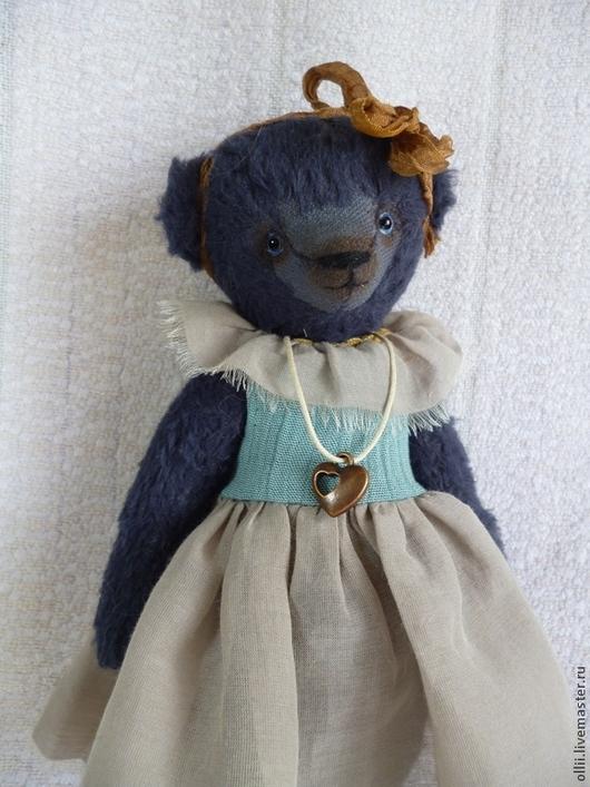 Мишки Тедди ручной работы. Ярмарка Мастеров - ручная работа. Купить Мишка Анжелика. Handmade. Тёмно-синий, авторский мишка