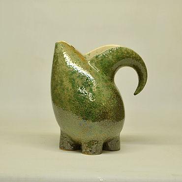Посуда ручной работы. Ярмарка Мастеров - ручная работа Кувшин Поклон слонику серый. Handmade.