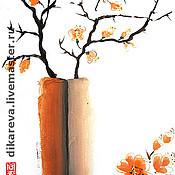 """Картины и панно ручной работы. Ярмарка Мастеров - ручная работа Картина """"Китайская ваза"""". Handmade."""