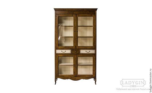Мебель ручной работы. Ярмарка Мастеров - ручная работа. Купить Деревянная библиотека 205 см. закрытая в стиле прованс. Handmade.