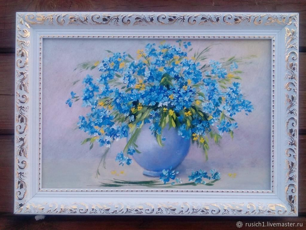 Forget-me-nots. 20h30cm, Pictures, Moscow,  Фото №1