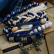 Украшения handmade. Livemaster - original item Bracelet boho-chic with pearls