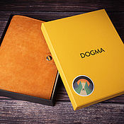 Канцелярские товары handmade. Livemaster - original item Notebook-glider on DOGMA A5 rings (orange color). Handmade.