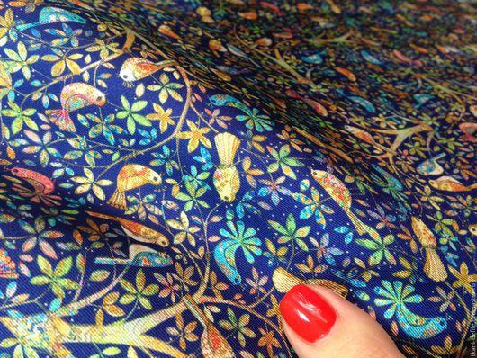 Шитье ручной работы. Ярмарка Мастеров - ручная работа. Купить Шелк натуральный. Handmade. Тёмно-синий, итальянские ткани