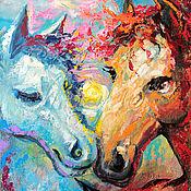 Картины и панно handmade. Livemaster - original item Painting with horses