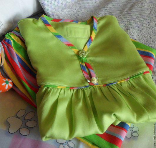 """Одежда для девочек, ручной работы. Ярмарка Мастеров - ручная работа. Купить Пижама для девочки """"Яблочные сны"""". Handmade. Салатовый"""