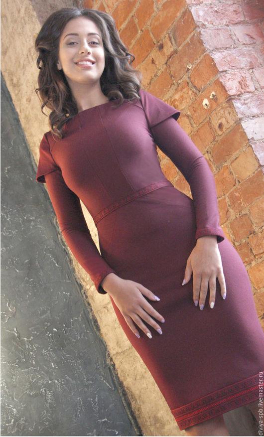 Платье `Бордо` Магазин ДИВИЯ этнический стиль