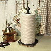 Для дома и интерьера ручной работы. Ярмарка Мастеров - ручная работа Держатель настольный для рулонных полотенец Лилии. Handmade.
