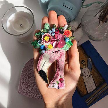 """Украшения ручной работы. Ярмарка Мастеров - ручная работа Брошь """"Фламинго"""". Handmade."""