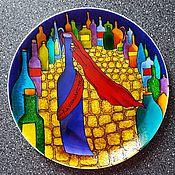 """Картины и панно ручной работы. Ярмарка Мастеров - ручная работа Декоративная тарелка""""Грузинская принцесса"""". Handmade."""
