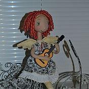 Куклы и игрушки ручной работы. Ярмарка Мастеров - ручная работа Маленький Ангел с гитарой. Handmade.