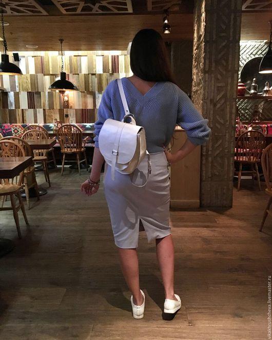 Рюкзаки ручной работы. Ярмарка Мастеров - ручная работа. Купить Рюкзак  Классический белый. Handmade. Рюкзак женский, натуральная кожа