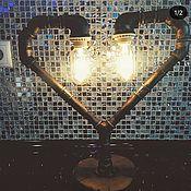 Настольные лампы ручной работы. Ярмарка Мастеров - ручная работа Настольные лампы: Лампа LOFT  сердце. Handmade.
