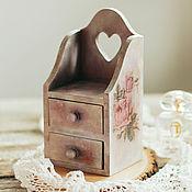 Для дома и интерьера ручной работы. Ярмарка Мастеров - ручная работа Мини-комодик в технике декупаж «Roses time». Handmade.