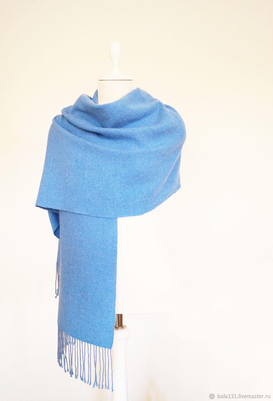 Домотканый палантин светло-голубой, Палантины, Королев,  Фото №1