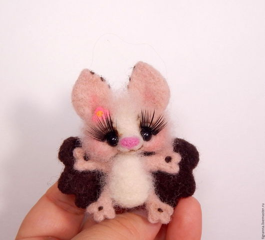 Игрушки животные, ручной работы. Ярмарка Мастеров - ручная работа. Купить Мыша. Handmade. Бежевый