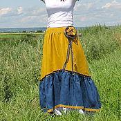 """Одежда ручной работы. Ярмарка Мастеров - ручная работа Юбка в пол льняная """"Красивая"""". Handmade."""
