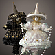 Коллекционные куклы ручной работы. Ярмарка Мастеров - ручная работа. Купить куклы коломбины: чёрная и белая. Handmade. Чёрно-белый