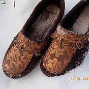 """Обувь ручной работы. Ярмарка Мастеров - ручная работа тапочки """"Мокасины"""". Handmade."""