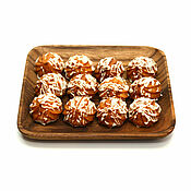 Посуда handmade. Livemaster - original item Square plate of acacia 20h20. Plate for snacks. Handmade.