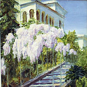Картины и панно handmade. Livemaster - original item Oil painting. Landscape. Livadiya, Crimea.. Handmade.