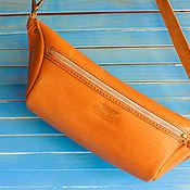 Поясная сумка ручной работы. Ярмарка Мастеров - ручная работа Поясная кожаная сумка. Handmade.