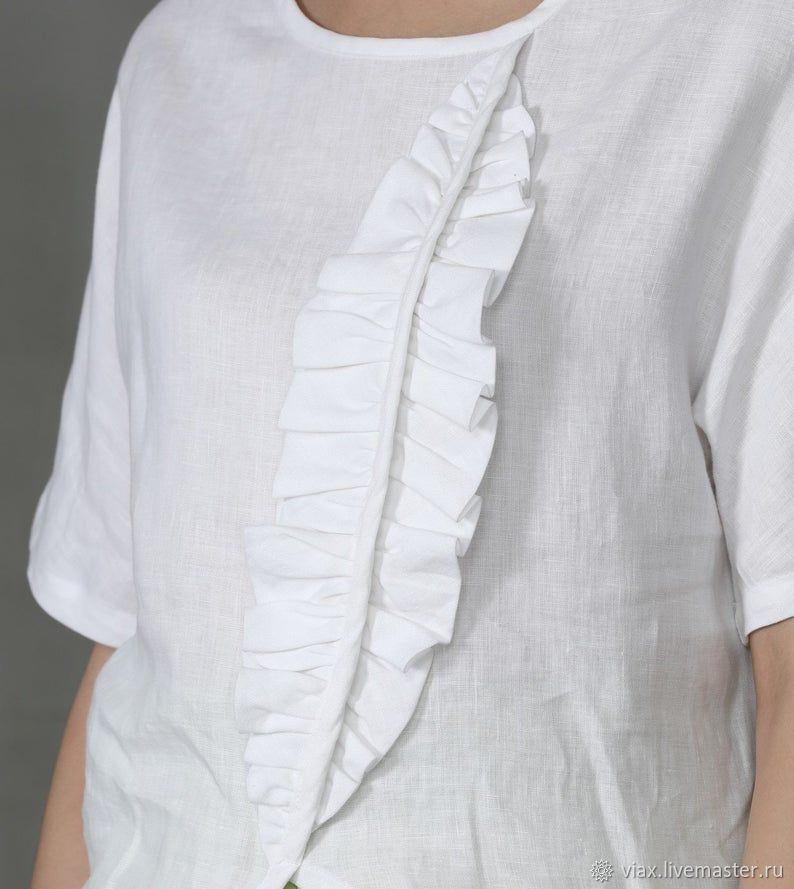 linen T-shirt in two colors 'Petal', T-shirts, Rostov-on-Don,  Фото №1