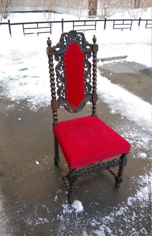Винтажные предметы интерьера. Ярмарка Мастеров - ручная работа. Купить Антикварный стул. Начало 20 века. Handmade. Коричневый, бархат