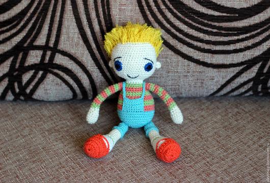 Человечки ручной работы. Ярмарка Мастеров - ручная работа. Купить Кукла Незнайка. Handmade. Комбинированный, кукла в подарок, мальчик, незнайка