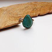 Украшения handmade. Livemaster - original item Ring with turquoise Drop Eastern sky 18.5 R-R. Handmade.