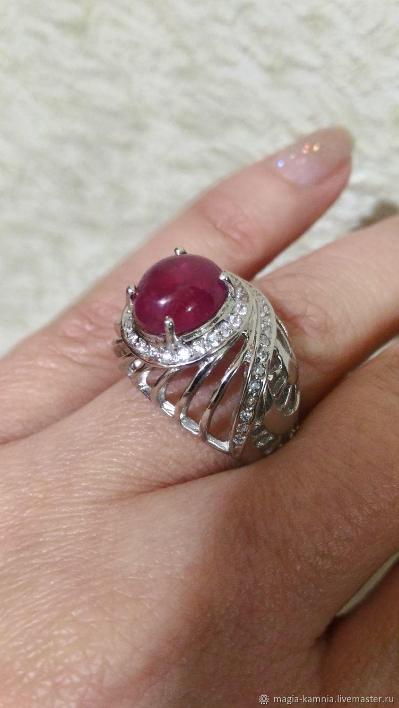 Серебряное кольцо возвышенный, Кольца, Белая Калитва,  Фото №1