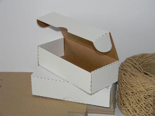 Упаковка ручной работы. Ярмарка Мастеров - ручная работа. Купить Коробка 21x9x5,5 см, белая микрогофра. Handmade. Коробка