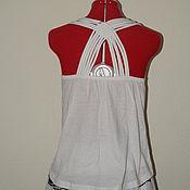 Одежда ручной работы. Ярмарка Мастеров - ручная работа Топ трикотажный на лето. Handmade.