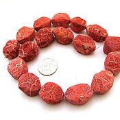 Материалы для творчества ручной работы. Ярмарка Мастеров - ручная работа Коралл губчатый 17  штук набор крупные бусины розовый. Handmade.