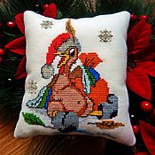 Для дома и интерьера handmade. Livemaster - original item Antistress pillow, relax pillow,pillow toy, embroidered Rooster. Handmade.