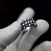 Украшения handmade. Livemaster - original item Ring, Textured squares. Handmade.