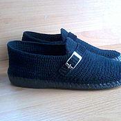 Обувь ручной работы handmade. Livemaster - original item Moccasins for men ( cotton ). Handmade.