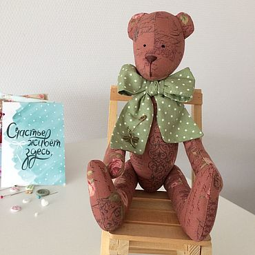 Куклы и игрушки ручной работы. Ярмарка Мастеров - ручная работа Мишки в стиле Тильда. Handmade.