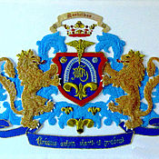 Картины и панно handmade. Livemaster - original item Family coat of arms.Blue gold.. Handmade.