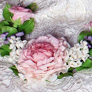 Украшения ручной работы. Ярмарка Мастеров - ручная работа Колье,ожерелье с цветами.Колье цветок пиона,розы.Колье полимерная глин. Handmade.