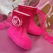 Обувь ручной работы handmade. Livemaster - original item boots: Children`s boots made of felt for a girl. Handmade.