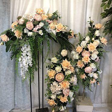 Свадебный салон ручной работы. Ярмарка Мастеров - ручная работа Композиция цветочная для свадьбы. Handmade.