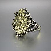 Украшения handmade. Livemaster - original item Ptolemus ring in 925 sterling silver with pyrite. Handmade.