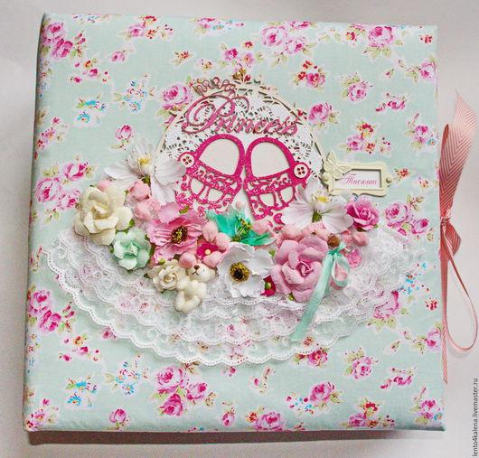 """Фотоальбомы ручной работы. Ярмарка Мастеров - ручная работа. Купить Большой альбом на первый год жизни """"Таисия"""". Handmade. для маленькой принцессы"""